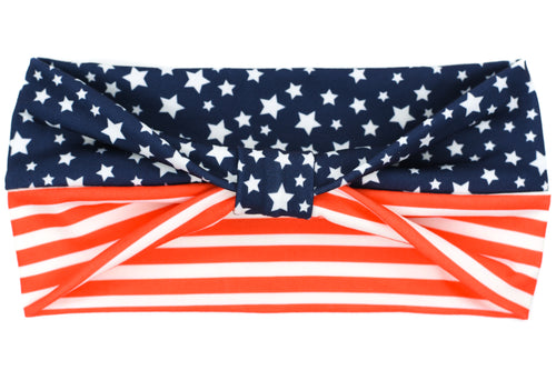Wide Bow - Traditional Stars & Stripes