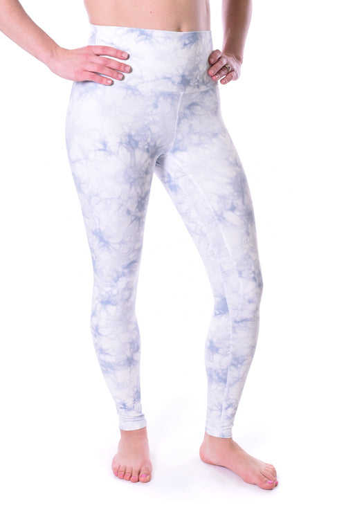 Limitless High Rise Weightless Leggings - 7/8 Ankle - White Tie Dye