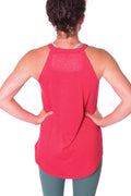 High Neck Flowy Tank - Red
