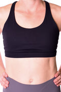 Challenger Strappy Sports Bra - Black