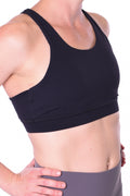 Apollo Mesh Back Sports Bra - Black