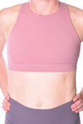 Saturn High Neck Sports Bra - Blush