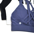 Virgo High Coverage Sports Bra - White