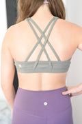 Saturn High Neck Sports Bra - Forest Green