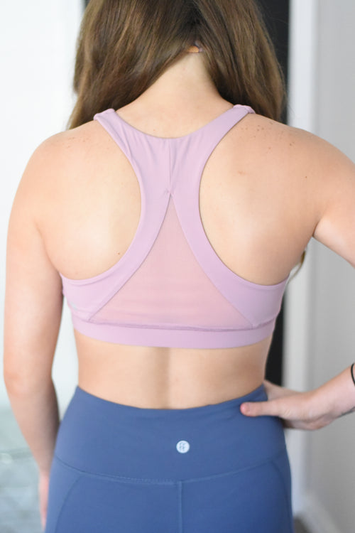 Apollo Mesh Back Sports Bra - Pink