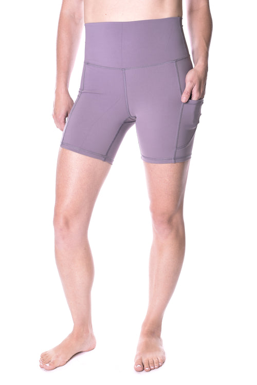 Nova 5 Inch Pocket Biker Short - Lilac Grey