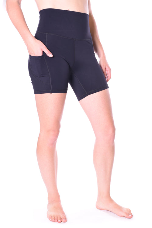 Nova 5 Inch Pocket Biker Short - Black