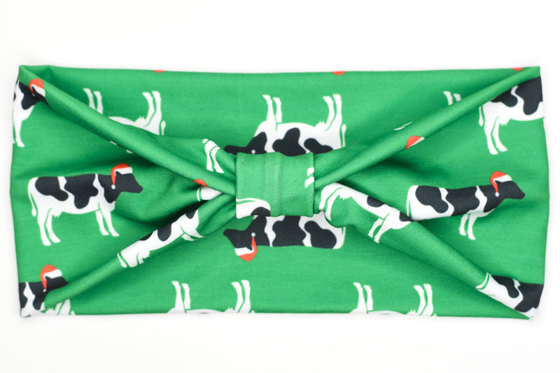 Wide Bow - Christmas Cows