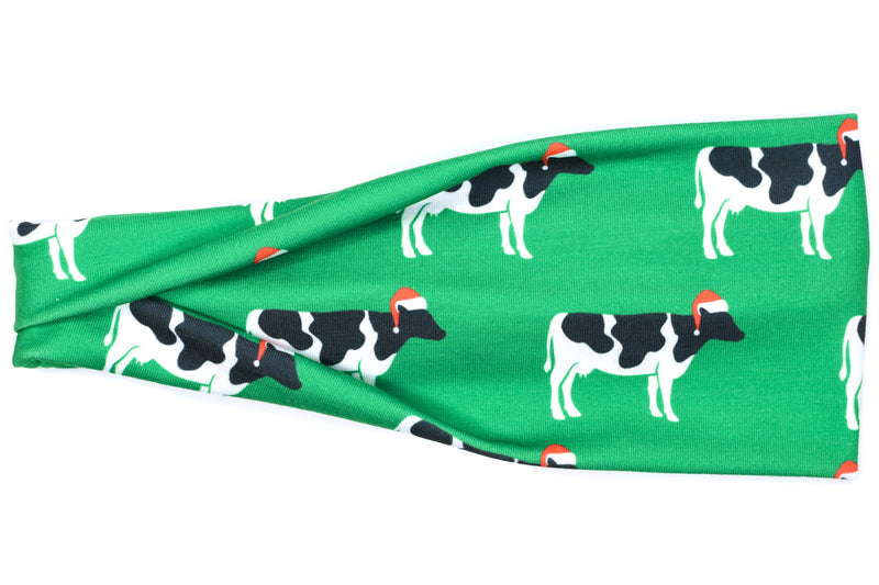 Modern Jersey Tri-Fold - Christmas Cows