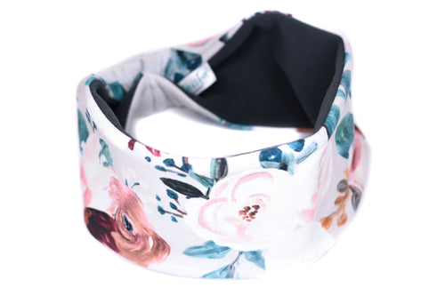 Polartec Fleece-Lined Headband - Winter White Floral