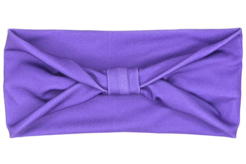 Wide Bow - Solid Royal Purple