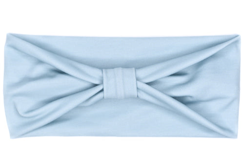 Wide Bow - Solid Powder Blue