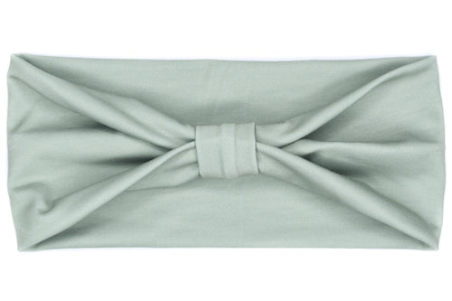 Wide Bow - Solid Sage Green