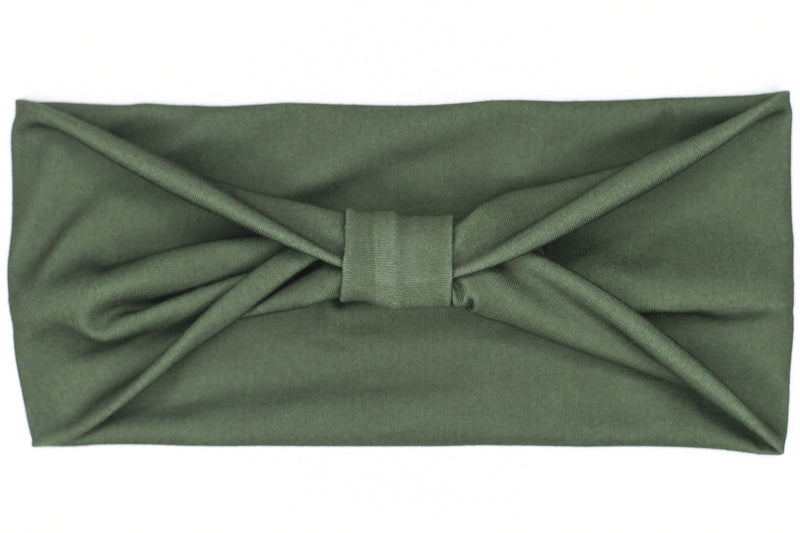 Wide Bow - Solid Forest Green