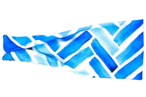 Flawless Empire Exclusive - Blue Watercolor Herringbone