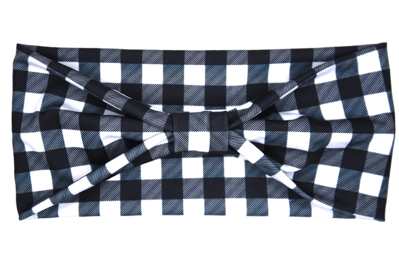 Wide Bow - Lumberjack Black & White Plaid