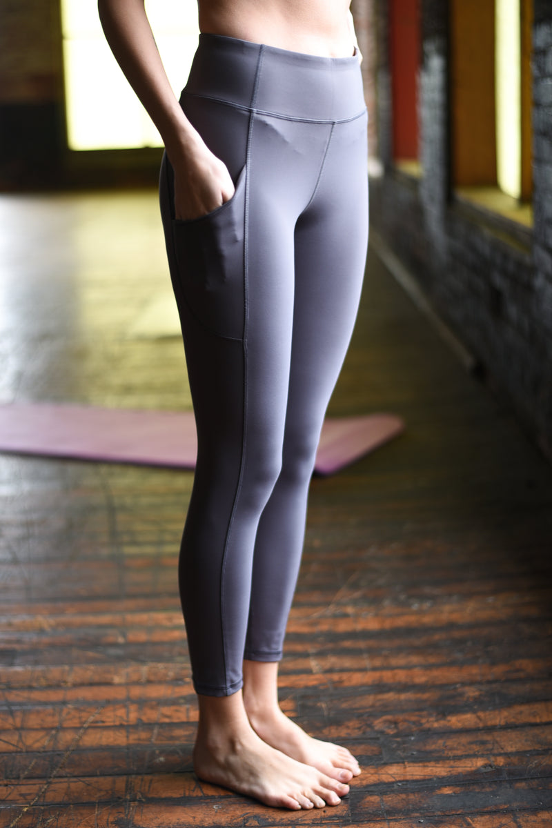 Mercury Pocket 7/8 Ankle Legging - Grey