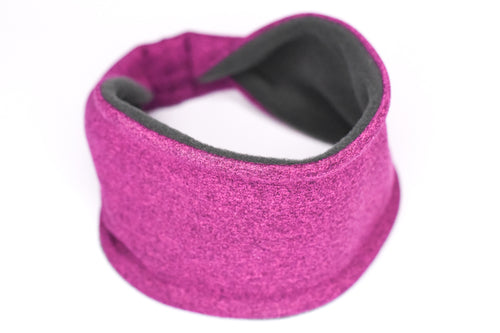 Polartec Fleece-Lined Headband - Magenta