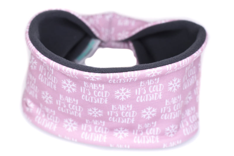 Polartec Fleece-Lined Headband - Baby It's Cold Outside on Lilac