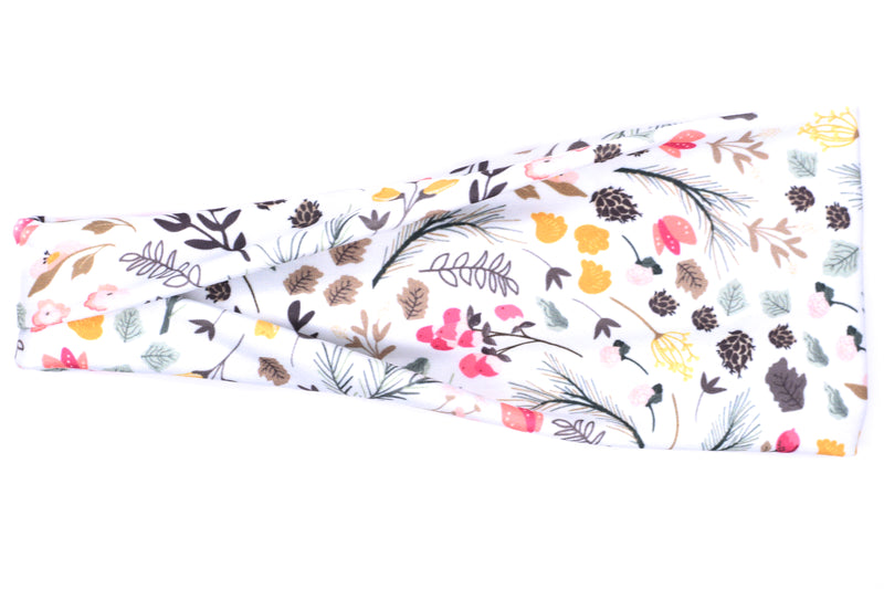 Modern Jersey Tri-Fold - Fall Floral on White