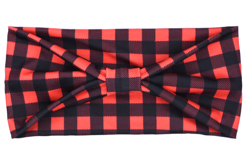 Wide Bow - Lumberjack Red Plaid