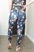 High Rise Printed  Leggings - Final Sale - Wild Flowers Black