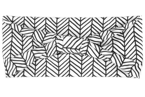 FREE Black & White Chevron Headband - WideBow