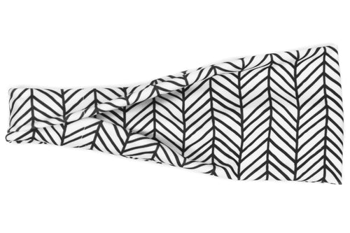 FREE Black & White Chevron Headband - TriFold
