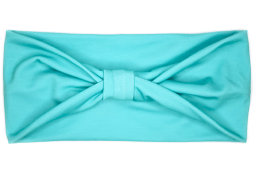 Wide Bow - Solid Light Teal