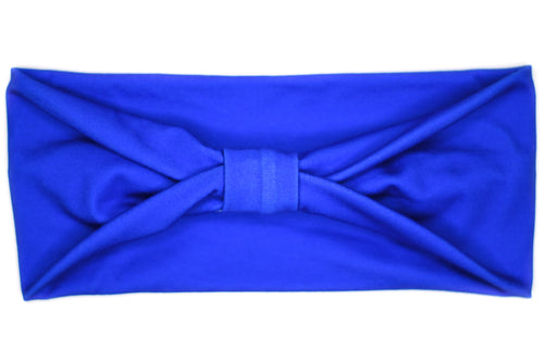 Wide Bow - Solid Cobalt Blue