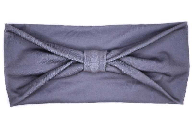 Wide Bow - Solid Dark Grey