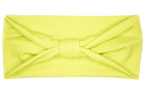 Wide Bow - Solid Neon Lime