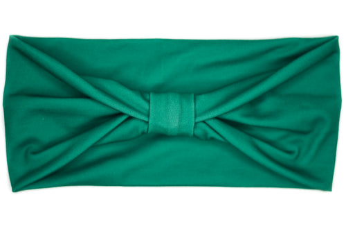 Wide Bow - Solid Hunter Green