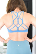 Challenger Strappy Sports Bra - Blue
