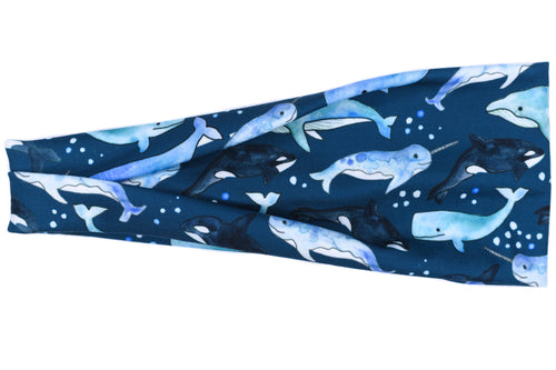 Modern Jersey Tri-Fold Headband - Under The Sea Navy