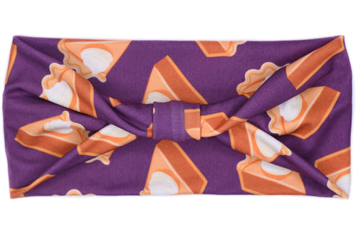Wide Bow - Homemade Pumpkin Pie Purple