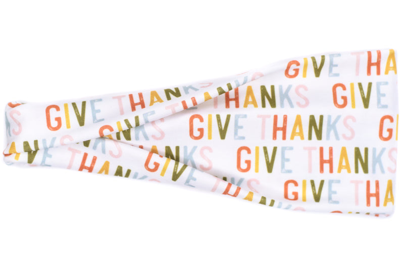 Modern Jersey Tri-Fold - Give Thanks on White