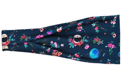 Modern Jersey Tri-Fold - Outer Space Floral