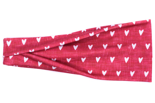 Modern Jersey Tri-Fold - Little Hearts Heather Red