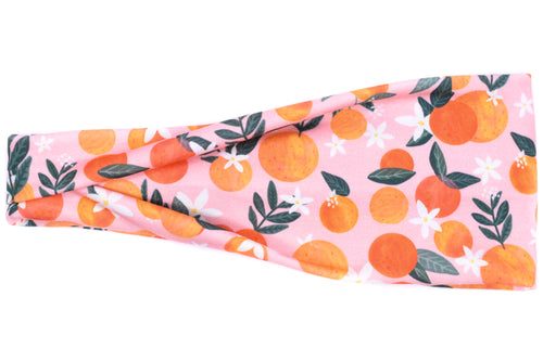 Modern Jersey Tri-Fold - Oranges on Pink