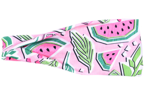 Modern Jersey Tri-Fold - Funky Watermelon on Pink