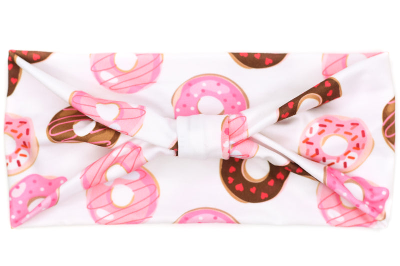 Wide Bow - Valentine's Day Donuts on White