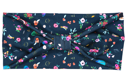 Wide Bow - Outer Space Floral