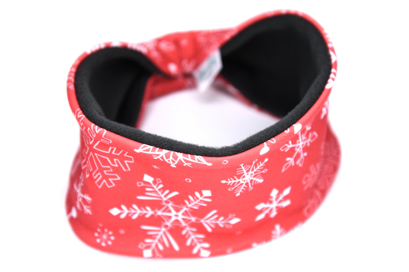Polartec Fleece-Lined Headband - Red Snowflake