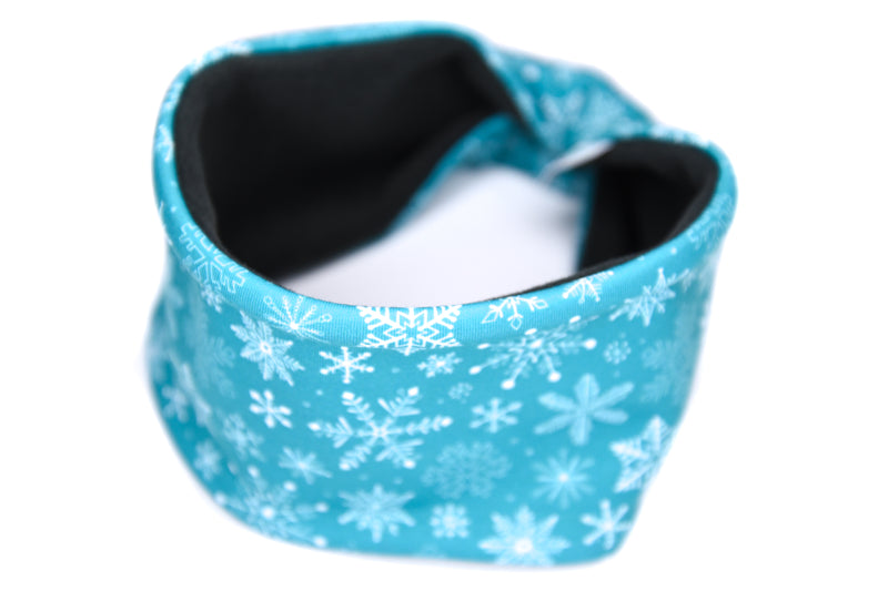 Polartec Fleece-Lined Headband - Teal Snowflake