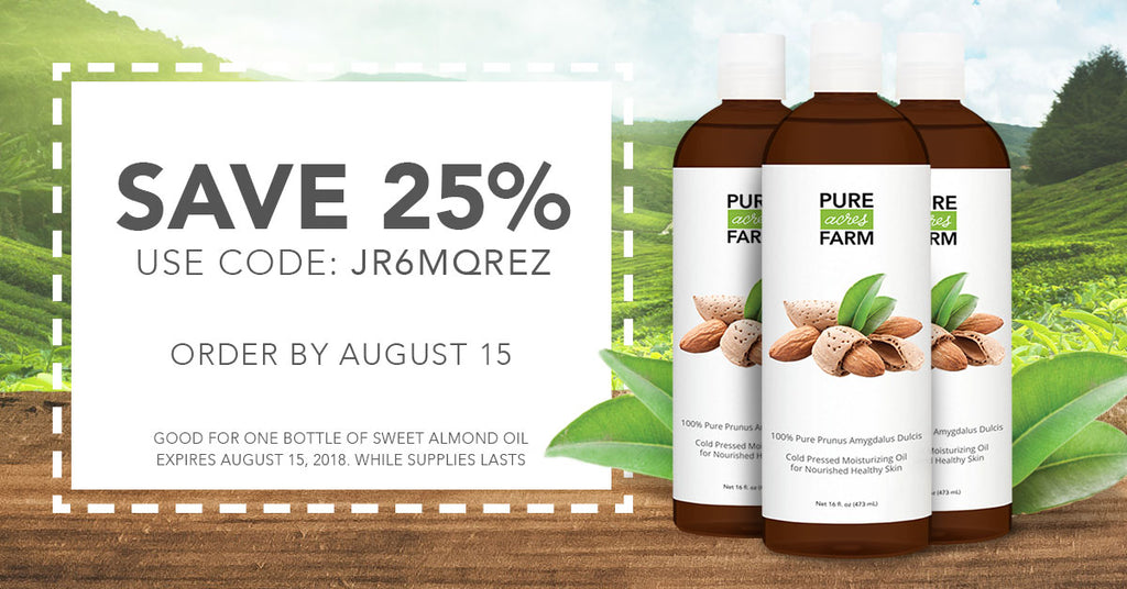 25% Off Sweet Almond Oil —Get your own bottle with code: JR6MQREZ