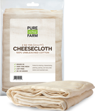 Cheesecloth - 2 Square Yards - Grade 50 - 100% Unbleached Cotton - Cooking, Straining, Nut Milk Bag, Filter, Reusable Cheese Cloths Fabric
