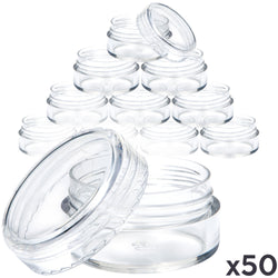 Clear Cosmetic Pots (50 pack)