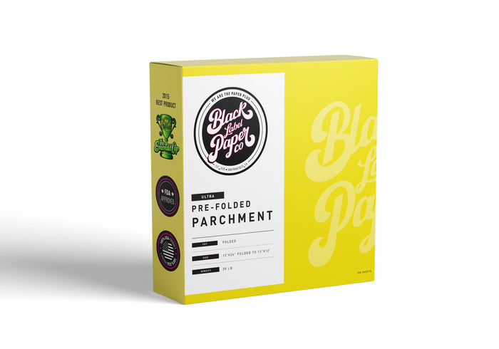 "Parchment Paper Sheets, 12""x12"" Pre-Folded Silicone ULTRA"
