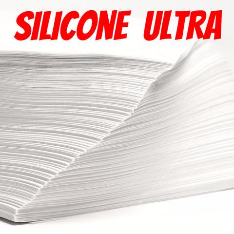 "Parchment Paper Sheets, Bleached 6""x3.5"" Silicone ULTRA *ON SALE*"